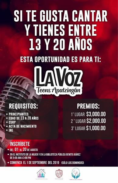 Preparan La Voz Teen Apatzingán