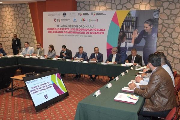 Acude Raúl Morón a Sesión Ordinaria del Consejo Estatal de Seguridad