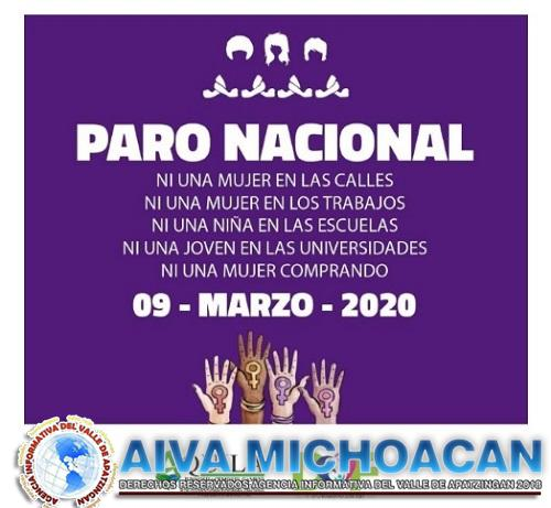 Participará Aquila en el Paro Nacional #UnDiaSinNosotras