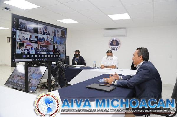 Reconoce Fiscal General, trabajo y compromiso del personal durante contingencia COVID-19