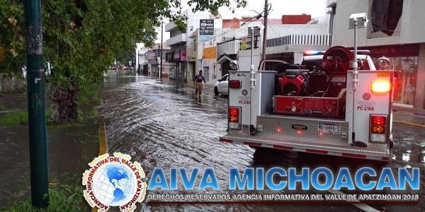 Atención permanente del Gobierno estatal a afectaciones por lluvias en Morelia