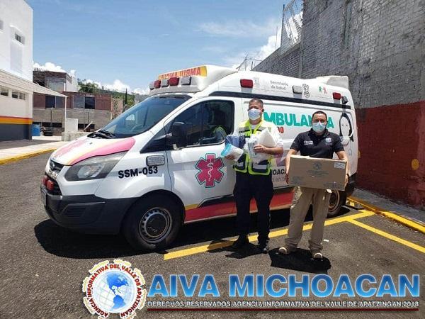 Bernardo Zepeda Vallejo gestiona insumos para Protección Civil de Arteaga