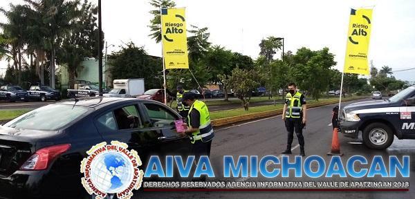 Continúa Bandera Amarilla en Zamora; realiza SSP labores contra COVID-19