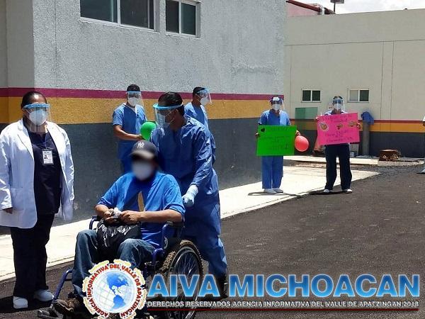 Segundo paciente recuperado de COVID-19 en Hospital General de Maravatío
