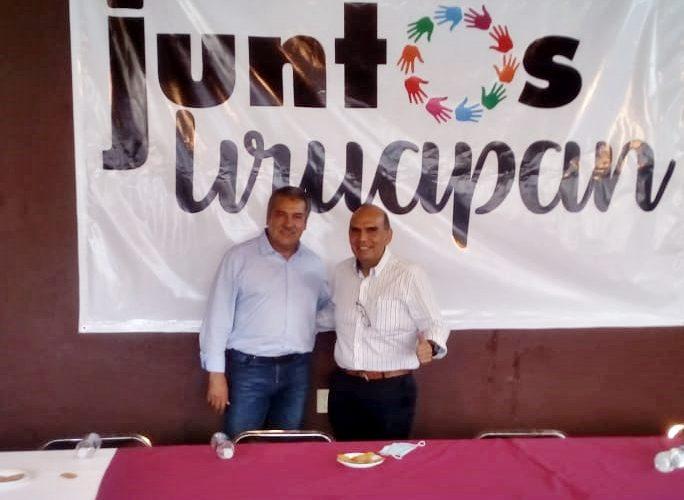 Recibe Rafa Ortiz visita amistosa de Raúl Morón en la casa de Reconstruyamos Juntos Uruapan