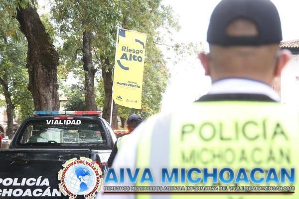 Con Bandera Amarilla refuerza SSP labores para prevenir COVID-19 en Pátzcuaro