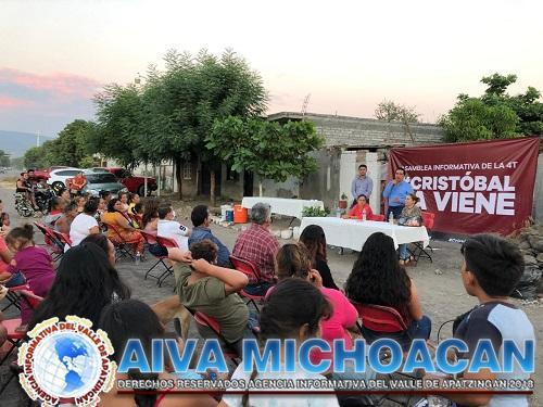 Casa de Enlace de CAS en Apatzingán realizan asambleas informativas en colonias Apatzinguenses
