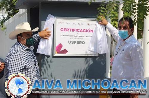 """Uspero Obtiene Certificación de """"Comunidad Promotora de la Salud""""."""