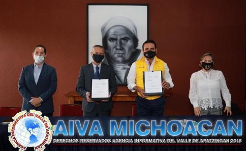 Firman Gobierno de Michoacán y Banco de Alimentos convenio contra carencia alimentaria