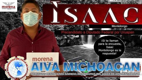 Isaac Montelongo, el mejor perfil para ocupar la diputación federal por Uruapan