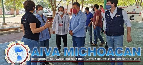 Establecen nueva logística para la aplicación de la vacuna Covid-19 en Apatzingán