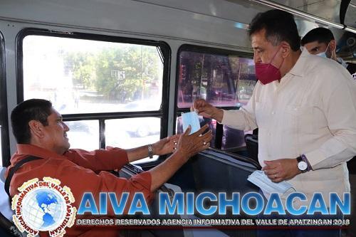 JLC supervisa cumplimiento de medidas anti Covid-19 en el transporte público